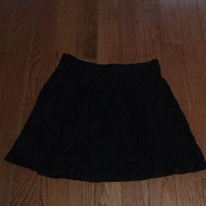 Express lace mini skirt